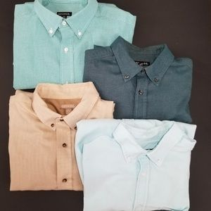 Lot of 4 George size Large button down shirts